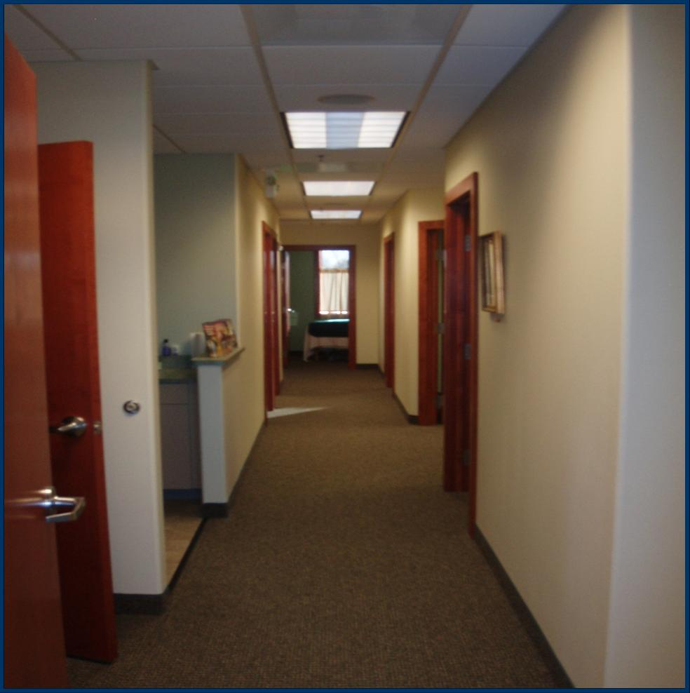 Hall to vitals and patient rooms