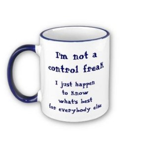 Control freak mug